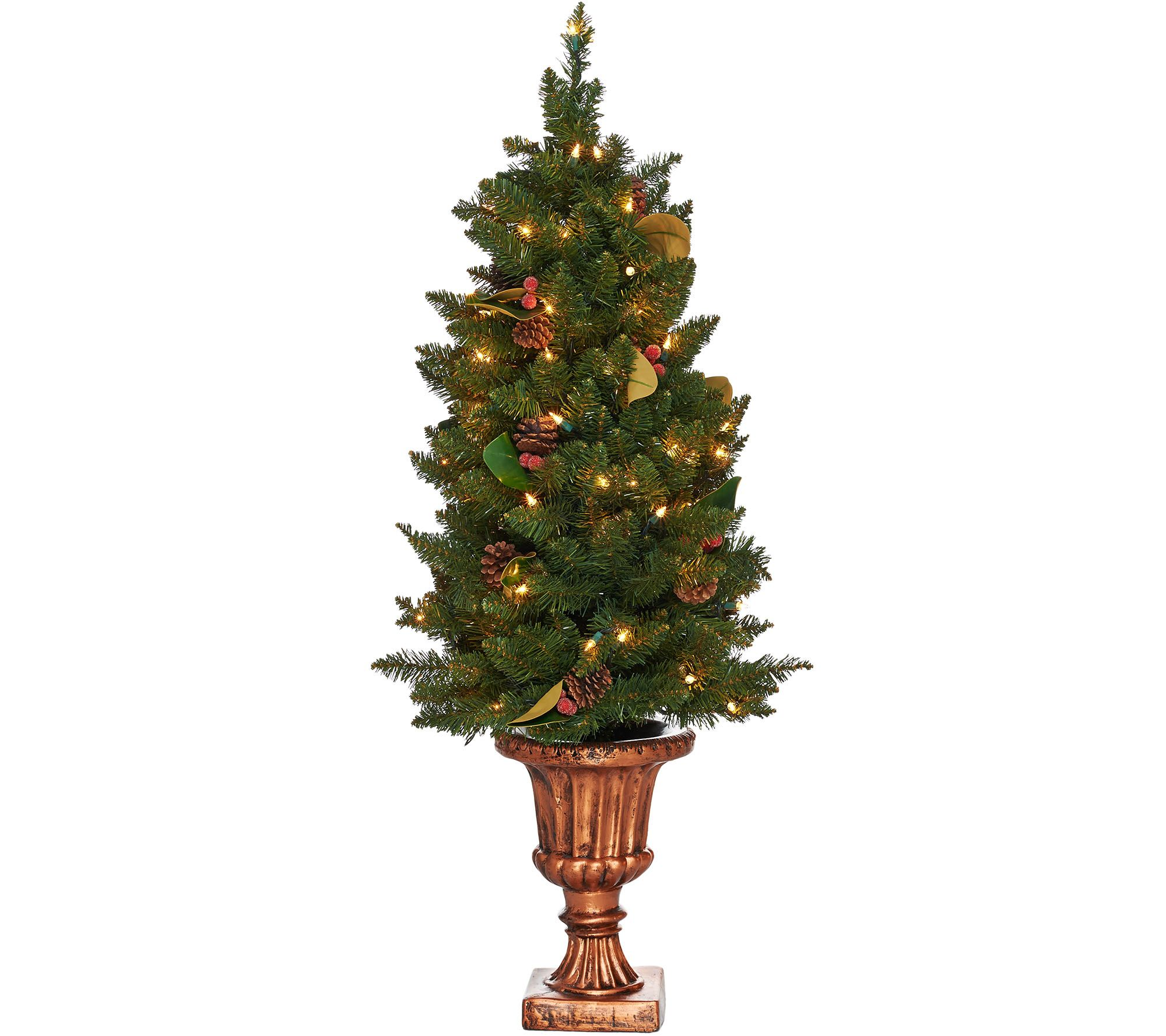 This must be the ultimate christmas yard decoration - Bethlehem Lights 4 Indoor Outdoor Lit Canterbury Urn Tree H209573