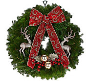 Del. Week 11/21 Fresh Balsam Holiday Wreath by Valerie - H209773