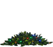 As Is BethlehemLights 3 Mixed Greens Prelit Holiday Swag - H210473