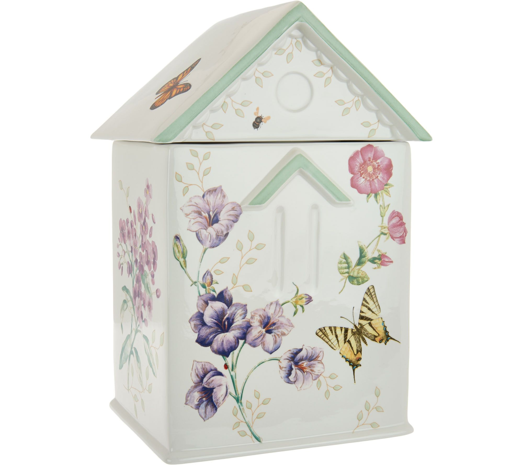 cookie jars canisters storage organization kitchen food lenox butterfly meadow limited edition cookie jar h210773