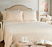 Casa Zeta-Jones Quilted Velvet Queen Coverlet with Shams - H213573