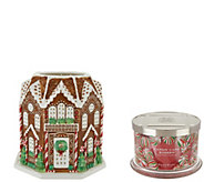 As Is HomeWorx by Harry Slatkin Country House w/3 Wick Candle - H214773