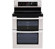 LG 30 Freestanding Electric Double Oven w/ Broiler Stainless - H280773