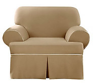 Sure Fit CVC Duck 1-Piece T-Cushion Chair Slipcover - H280973