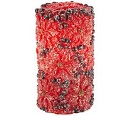 Candle Impressions 6 Poinsettia Pillar - H287073