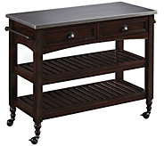 Home Styles Country Comfort Kitchen Cart w/ Stainless Top - H288173