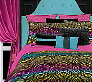 Veratex Rainbow Zebra Queen Comforter Set - H351573
