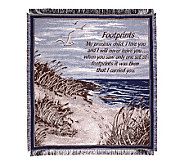 Footprints in the Sand Cotton Throw by Simply Home - H129674