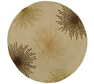 Soho 8 Round Abstract Handtufted Wool/ViscoseBlend Rug - H178574