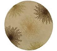 Soho 8 Round Abstract Handtufted Wool/ViscoseBlend Rug - H178574