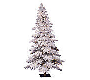 7 Prelit Flocked Alpine Spruce Tree w/Clr Lights by Vickerma - H183974