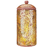 11 Illuminated Mosaic Urn with Timer by Valerie - H203874