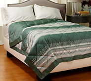 Northern Nights Fair Isle 400TC Extra Warmth KG Reversible Down Alt. Blanket - H206974
