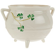 Belleek Shamrock Three Legged Pot - H207974