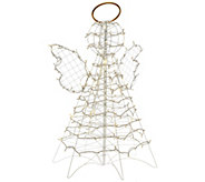 As Is 3 Fold Flat Outdoor LED Snowman or Angel by Lori Greiner - H208574