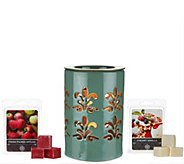 As Is Illuminated Candle Warmer & (2) Fragrance Packs - H209174