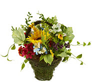 Wildflower with Sunflowers and Dogwood Basket by Valerie - H210774