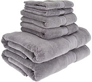 As Is Northern Nights 600 GSM 100Cotton 6 Piece Bath Towel Set - H210974