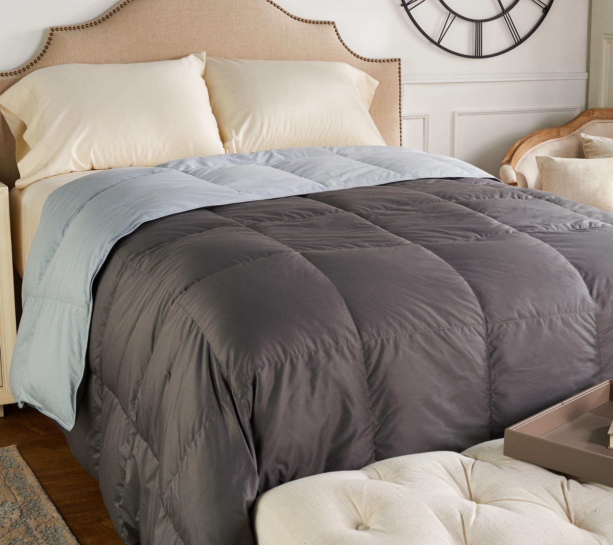 Northern Nights 400TC 600FP Reversible Queen Down Comforter - H212074