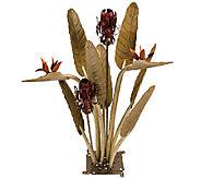Desert Steel Birds of Paradise Garden Statue and Tiki Torch - H284574