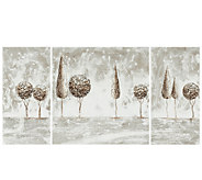 Triptych Topiaries Canvas Paintings by Safavieh - H285374