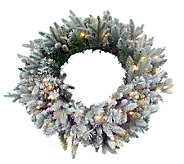 30 Frosted Balsam Wreath by Valerie - H285474