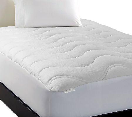 elle luxury knit down alternative cal king mattress pad. Black Bedroom Furniture Sets. Home Design Ideas