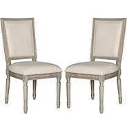 Buchanan Set of Two Beige Rect Side Chairs by Valerie - H291674