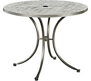 Umbria Concrete Tile Round Outdoor Table - H291774
