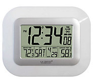 La Crosse Technology WS-811561W Solar Digital Wall Clock - H356374