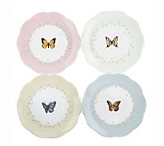 Lenox Butterfly Meadow Dessert Plates - Set of4 - H138775
