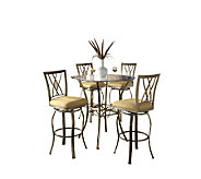 Hillsdale House Brookside 5-Piece Bistro Set -Crisscross - H159375