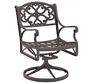 Home Styles Cast Aluminum Outdoor Swivel Armchair - H176575
