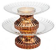 2-Tier Illuminated Mercury Glass Serving Platter by Valerie - H203875