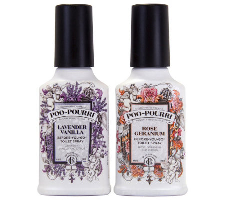 Poo Pourri Set Of 2 4 Oz Duality Bathroom Deodorizers H205275