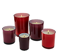 ED On Air Set of 5 Decorator Candles by Ellen DeGeneres - H205975