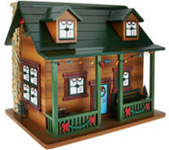 Ships 7/20 Plow and Hearth Wooden Cabin Advent Calendar