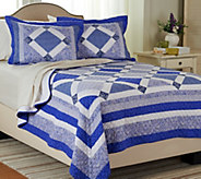 As Is Blue Bell F/Q 100Cotton Quilt Set with Shams - H210075