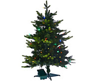 As Is BethlehemLights 30 Mixed Green Prelit Holiday Stake Tree - H210475