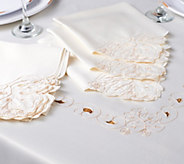 Casa Zeta-Jones Lasercut 70x80 Embroidered Tablecloth w/ 6 Napkins - H213175