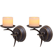 Candle Impressions Set of 2 Single-Arm Sconces - H287075