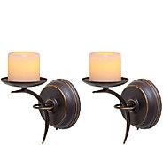 Candle Impressions Set of 2 Single-Arm Sconces - H287075