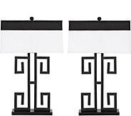 Safavieh Set of (2) 28 Greek Key Table Lamps - H292975
