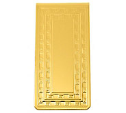Goldtone Money Clip with Center Plaque for Engraving - H348775
