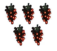 Set of 5 Red Grape Clusters Set by Vickerman - H352175