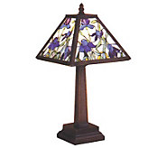 Tiffany Style Mosaic Iris Accent Lamp - H112376