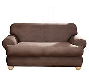 Sure Fit Stretch Faux-Leather T-Cushion Loveseat Slipcover - H174476