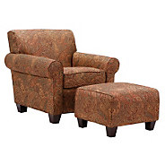 Handy Living Winnetka Sienna Paisley Chair & Ottoman - H177676