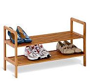 Honey-Can-Do 2-Tier Bamboo Shoe Shelf - H184076
