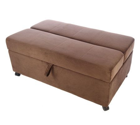 roll away microfiber ottoman with fold out page 1. Black Bedroom Furniture Sets. Home Design Ideas